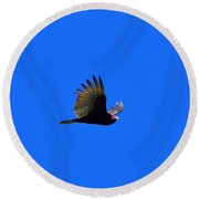 Turkey Vulture - 2 Round Beach Towel