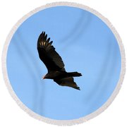 Turkey Vulture Round Beach Towel
