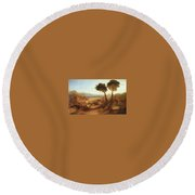 Turner Joseph The Bay Of Baiae With Apollo And The Sibyl Joseph Mallord William Turner Round Beach Towel