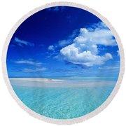 Turquiose Lagoon Round Beach Towel