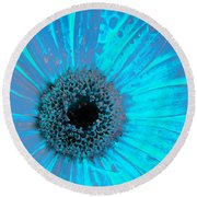 Turquoise Burn Round Beach Towel