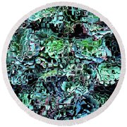 Turquoise Garden Of Glass Round Beach Towel