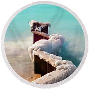 Turquoise Round Beach Towel