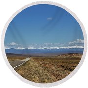 Turquoise Mine Off Hwy 142 Round Beach Towel