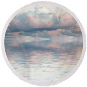 Turquoise Moon Rise Round Beach Towel