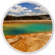 Turquoise Pool  Round Beach Towel
