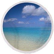 Turquoise Shoreline Round Beach Towel