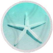 Turquoise Starfish 1 Round Beach Towel