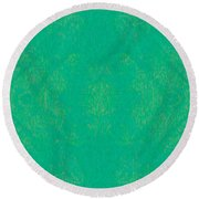 Turquoise Transitions Abstract Design Art By Omaste Witkowski  Round Beach Towel