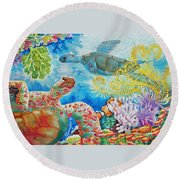Turtle Territory Round Beach Towel
