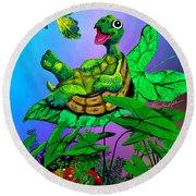 Turtle Trampoline Round Beach Towel