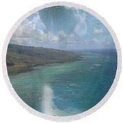 Turtle Vision Round Beach Towel