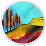 Tuscan Sentinels Round Beach Towel