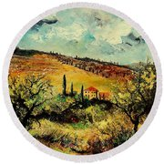 Tuscany 67 Round Beach Towel