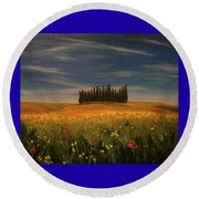 Tuscany Soldiers  Round Beach Towel