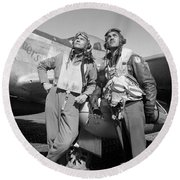 Tuskegee Airmen Round Beach Towel by War Is Hell Store