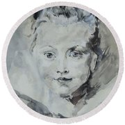 Twiggy Baby Round Beach Towel