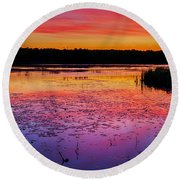 Twilight Afterglow #1 Round Beach Towel