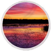 Twilight Afterglow #2 Round Beach Towel