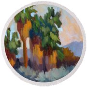 Twilight At Indian Canyons  Round Beach Towel