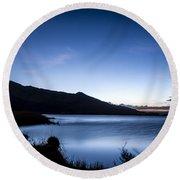 Twilight At Klondike Lake Round Beach Towel