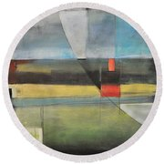 Twilight Harvest Round Beach Towel