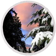 Twilight Hour Round Beach Towel