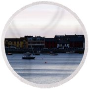 Twilight In The Harbor At Skerries Round Beach Towel
