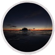 Twilight Round Beach Towel