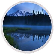 Twilight Majesty Round Beach Towel