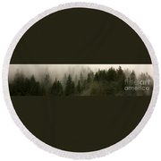 Twilight Mist Round Beach Towel