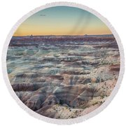 Twilight Over The Painted Desert Round Beach Towel