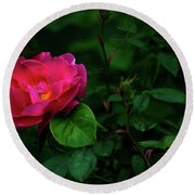 Twilight Rose Round Beach Towel