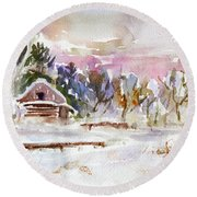Twilight Serenade I Round Beach Towel