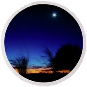 Twilight Silhouettes Round Beach Towel