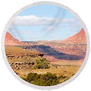 Twin Buttes Round Beach Towel