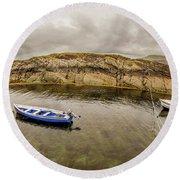 Twin Fishing Boats Round Beach Towel