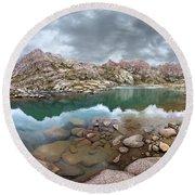 Twin Lakes - Weminuche Wilderness - Colorado Round Beach Towel