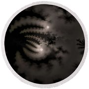 Twin Moons Round Beach Towel