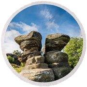 Twin Rocks At Brimham Round Beach Towel