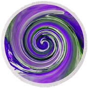 Twirl 02c Round Beach Towel