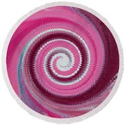 Twirl Pink  Round Beach Towel