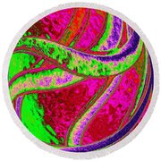 Twist And Shout 4 Round Beach Towel