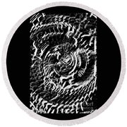 Twisted Gears Abstract Round Beach Towel