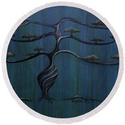 Twisted Oak Round Beach Towel