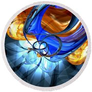 Twisted Spiral Abstract Round Beach Towel