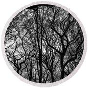 Twisted Trees Round Beach Towel