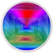 Twister In A Prism Round Beach Towel