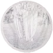 Two Angels, 1904  Round Beach Towel