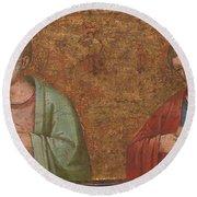 Two Apostles   Fragment Of Predella   Round Beach Towel